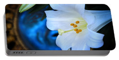 Portable Battery Charger featuring the photograph Eclipse With A Lily by Steven Sparks