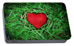 Portable Battery Charger featuring the photograph Eco Heart by Laura Melis
