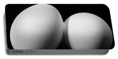 Eggs In Black And White Portable Battery Charger