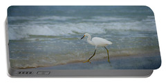 Egret Portable Battery Charger by Sandy Keeton