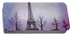 Eiffel At Night Portable Battery Charger
