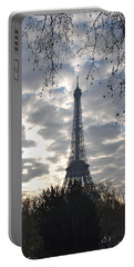 Portable Battery Charger featuring the photograph Eiffel In The Morning by Eric Tressler