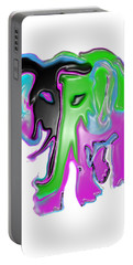 Portable Battery Charger featuring the painting Ele What? by Tbone Oliver