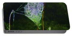 Portable Battery Charger featuring the photograph Electric Web In The Fog by EricaMaxine  Price