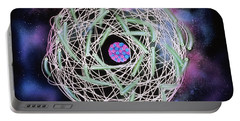 Electrons Orbiting Atom Portable Battery Charger