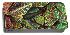 Elena's Crotons Portable Battery Charger by Marionette Taboniar