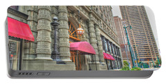 Portable Battery Charger featuring the photograph Ellicott Square Building And Hsbc by Michael Frank Jr