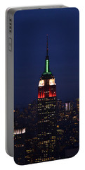 Empire State Building1 Portable Battery Charger by Zawhaus Photography