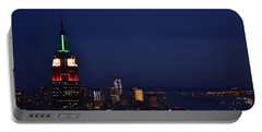 Empire State Building3 Portable Battery Charger by Zawhaus Photography