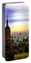 Empire State Building4 Portable Battery Charger by Zawhaus Photography
