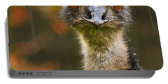 Emu In The Rain Portable Battery Charger by Jean Noren