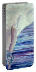 Portable Battery Charger featuring the painting En Pointe by Julie Brugh Riffey