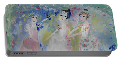 English Country Garden Ballet Portable Battery Charger by Judith Desrosiers