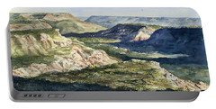 Evening Flight Over Palo Duro Canyon Portable Battery Charger