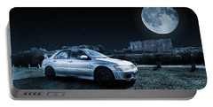 Portable Battery Charger featuring the photograph Evo 7 At Night by Steve Purnell