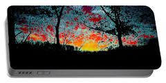 Portable Battery Charger featuring the photograph Electric Sunset by J R Seymour