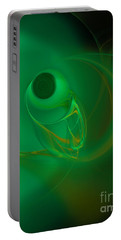 Portable Battery Charger featuring the digital art Eye Of The Fish by Victoria Harrington