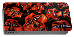 Faces In The Crowd Portable Battery Charger