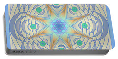 Portable Battery Charger featuring the digital art Fading Geometrics by Mario Carini
