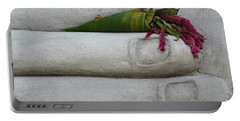 Fall Buddha #2 Portable Battery Charger by Nola Lee Kelsey