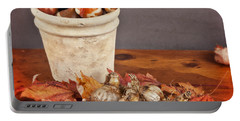 Fall Bulbs 1 Portable Battery Charger by Verena Matthew