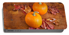 Portable Battery Charger featuring the photograph Fall Decorative Pumpkins by Verena Matthew