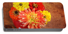 Portable Battery Charger featuring the photograph Fall Flower Arrangement by Verena Matthew