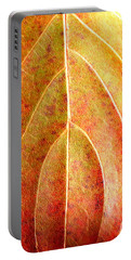 Fall Leaf Upclose Portable Battery Charger