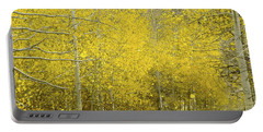 Falling Aspen Leaves Portable Battery Charger