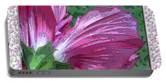 Portable Battery Charger featuring the digital art Fancy Finish by Debbie Portwood