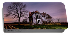 Farm House At Night Portable Battery Charger