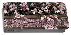 Portable Battery Charger featuring the photograph Fence Of Flowers by Elizabeth Winter