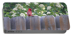Portable Battery Charger featuring the photograph Fence Top by Elizabeth Winter