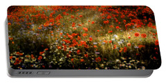 Field Of Wildflowers Portable Battery Charger