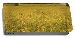Field Of Yellow Daisy's Portable Battery Charger