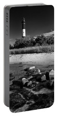 Fire Island In Black And White Portable Battery Charger