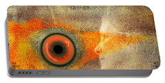 Portable Battery Charger featuring the digital art Fire Look by Rosa Cobos