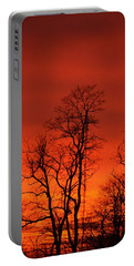 Fire Sky Portable Battery Charger by Bonnie Myszka