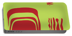 Portable Battery Charger featuring the digital art Fire Spirit Cave by Kevin McLaughlin