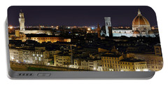 Firenze Skyline At Night - Duomo And Surroundings Portable Battery Charger