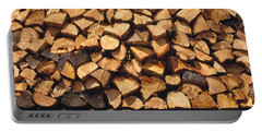 Firewood Hauled From Clearcut On Truck Portable Battery Charger