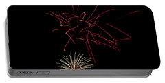 Portable Battery Charger featuring the photograph Fireworks 6 by Mark Dodd