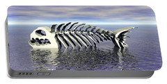 Portable Battery Charger featuring the digital art Fish Bones by Phil Perkins
