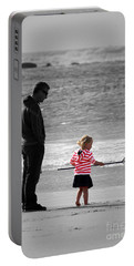Portable Battery Charger featuring the photograph Fish With Me Daddy by Terri Waters