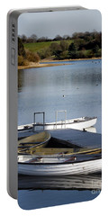 Portable Battery Charger featuring the photograph Fishing Boats by Linsey Williams
