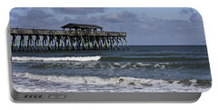 Fishing On The Pier Portable Battery Charger