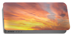 Flaming Sunset Portable Battery Charger