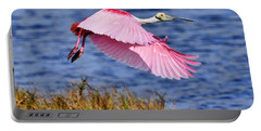 Flight A Roseate Spoonbill Portable Battery Charger