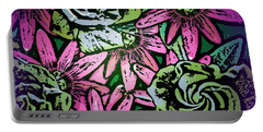 Portable Battery Charger featuring the digital art Floral Explosion by George Pedro