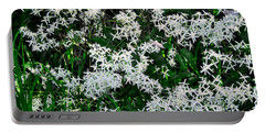 Floral Snow Portable Battery Charger